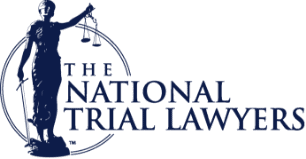 The National Trial Lawyers Logo in navy blue