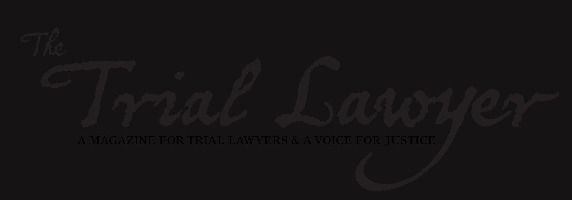 The Trial Lawyer Magazine Logo