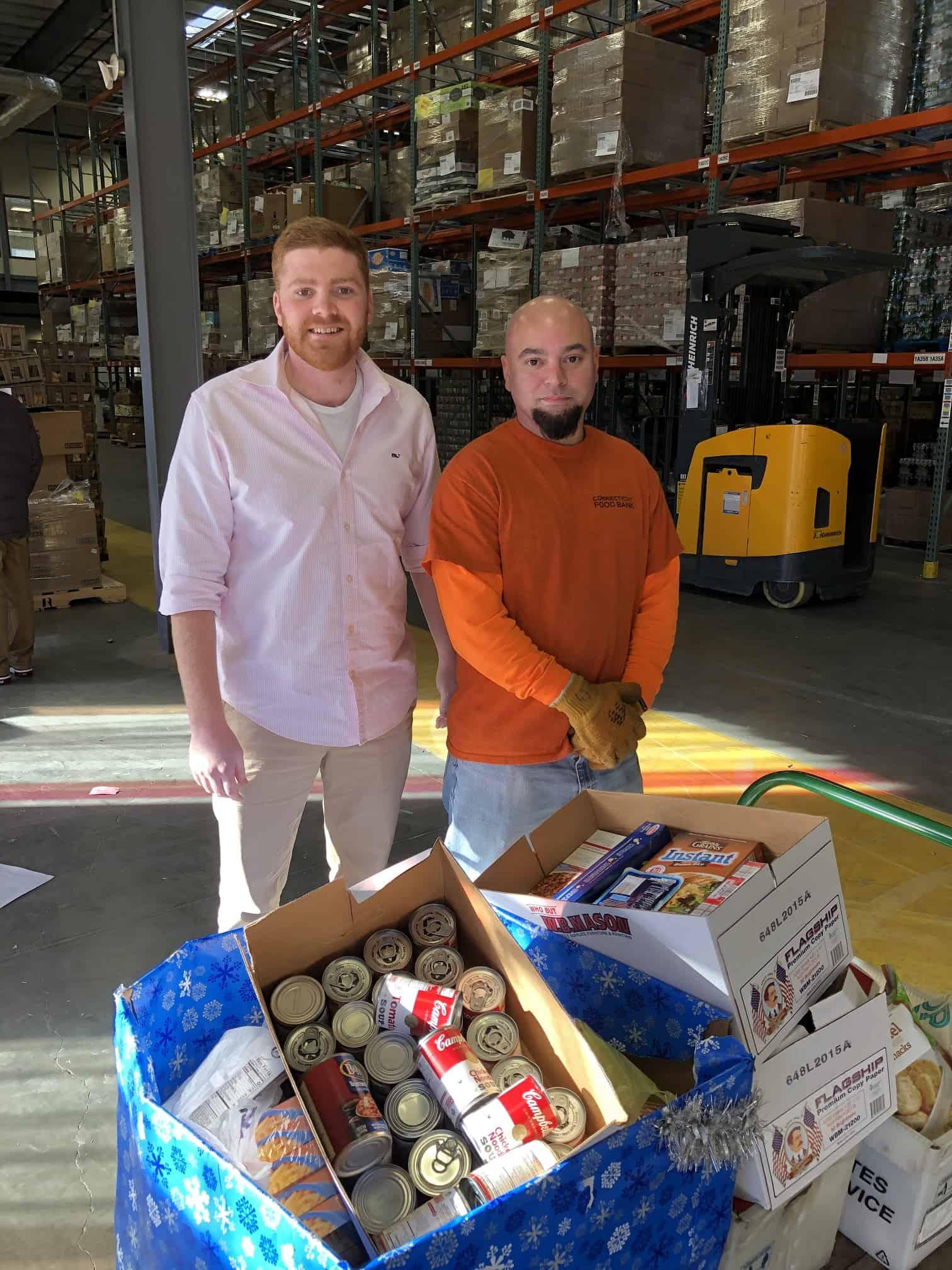 NTL member Jonathan Perkins donates +300 lbs. of food to CT food bank