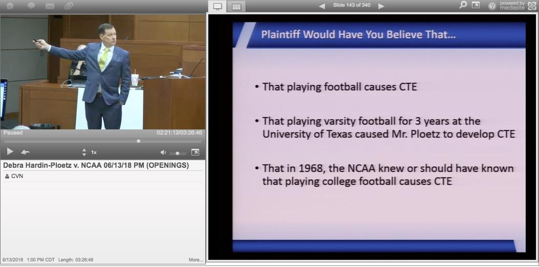 NCAA Settles Football Brain Injury Lawsuit On 3rd Day Of Historic Trial